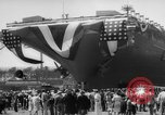 Image of Christening of the USS Independence (CV-62) in New York New York United States USA, 1958, second 12 stock footage video 65675046605