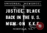 Image of Justice Hugo Black Norfolk Virginia USA, 1937, second 1 stock footage video 65675046687