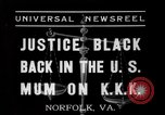 Image of Justice Hugo Black Norfolk Virginia USA, 1937, second 2 stock footage video 65675046687