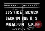 Image of Justice Hugo Black Norfolk Virginia USA, 1937, second 3 stock footage video 65675046687