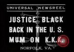 Image of Justice Hugo Black Norfolk Virginia USA, 1937, second 9 stock footage video 65675046687