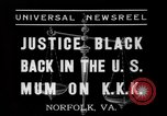 Image of Justice Hugo Black Norfolk Virginia USA, 1937, second 10 stock footage video 65675046687