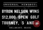 Image of Byron Nelson Belmont Massachusetts USA, 1937, second 3 stock footage video 65675046688