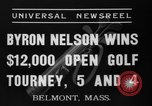Image of Byron Nelson Belmont Massachusetts USA, 1937, second 6 stock footage video 65675046688