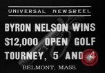 Image of Byron Nelson Belmont Massachusetts USA, 1937, second 9 stock footage video 65675046688