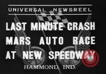 Image of car race Hammond Indiana USA, 1937, second 3 stock footage video 65675046690