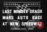 Image of car race Hammond Indiana USA, 1937, second 5 stock footage video 65675046690