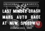 Image of car race Hammond Indiana USA, 1937, second 9 stock footage video 65675046690
