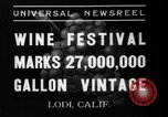 Image of wine festival Lodi California USA, 1937, second 1 stock footage video 65675046692
