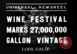 Image of wine festival Lodi California USA, 1937, second 4 stock footage video 65675046692