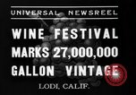 Image of wine festival Lodi California USA, 1937, second 6 stock footage video 65675046692