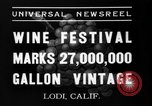 Image of wine festival Lodi California USA, 1937, second 7 stock footage video 65675046692