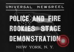 Image of police academy rookies New York City USA, 1937, second 9 stock footage video 65675046693