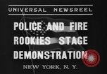 Image of police academy rookies New York City USA, 1937, second 10 stock footage video 65675046693