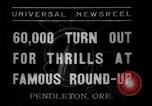 Image of Pendleton round-up Pendleton Oregon USA, 1937, second 4 stock footage video 65675046696