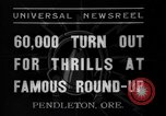 Image of Pendleton round-up Pendleton Oregon USA, 1937, second 6 stock footage video 65675046696