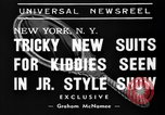 Image of kids fashion show New York United States USA, 1939, second 7 stock footage video 65675046708