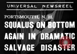 Image of Squalus recovery Portsmouth New Hampshire USA, 1939, second 9 stock footage video 65675046711