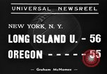 Image of College basketball game New York United States USA, 1939, second 2 stock footage video 65675046716