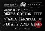 Image of Dixie's Cotton Fete Memphis Tennessee USA, 1940, second 1 stock footage video 65675046720