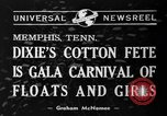 Image of Dixie's Cotton Fete Memphis Tennessee USA, 1940, second 2 stock footage video 65675046720