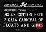 Image of Dixie's Cotton Fete Memphis Tennessee USA, 1940, second 3 stock footage video 65675046720