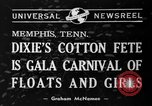 Image of Dixie's Cotton Fete Memphis Tennessee USA, 1940, second 4 stock footage video 65675046720