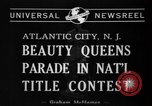 Image of Miss America Atlantic City New Jersey USA, 1940, second 1 stock footage video 65675046722