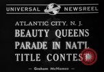 Image of Miss America Atlantic City New Jersey USA, 1940, second 2 stock footage video 65675046722