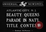 Image of Miss America Atlantic City New Jersey USA, 1940, second 4 stock footage video 65675046722