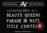 Image of Miss America Atlantic City New Jersey USA, 1940, second 6 stock footage video 65675046722