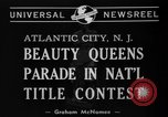 Image of Miss America Atlantic City New Jersey USA, 1940, second 7 stock footage video 65675046722