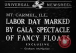 Image of Labor Day celebration Mount Carmel Illinois USA, 1940, second 1 stock footage video 65675046728