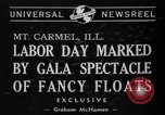 Image of Labor Day celebration Mount Carmel Illinois USA, 1940, second 2 stock footage video 65675046728