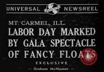 Image of Labor Day celebration Mount Carmel Illinois USA, 1940, second 3 stock footage video 65675046728