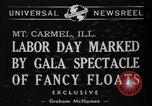 Image of Labor Day celebration Mount Carmel Illinois USA, 1940, second 6 stock footage video 65675046728