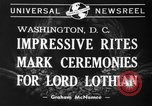 Image of State funeral of Lord Lothian Washington DC USA, 1940, second 2 stock footage video 65675046729