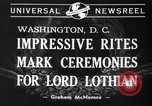 Image of State funeral of Lord Lothian Washington DC USA, 1940, second 3 stock footage video 65675046729