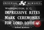 Image of State funeral of Lord Lothian Washington DC USA, 1940, second 4 stock footage video 65675046729