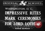 Image of State funeral of Lord Lothian Washington DC USA, 1940, second 5 stock footage video 65675046729