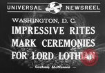Image of State funeral of Lord Lothian Washington DC USA, 1940, second 6 stock footage video 65675046729