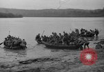 Image of troops cross river Front Knox Kentucky USA, 1940, second 12 stock footage video 65675046732
