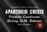 Image of apartheid crisis South Africa, 1960, second 1 stock footage video 65675046752