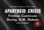 Image of apartheid crisis South Africa, 1960, second 5 stock footage video 65675046752