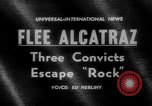 Image of convicts escape Alcatraz Island California USA, 1962, second 1 stock footage video 65675046759