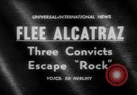 Image of convicts escape Alcatraz Island California USA, 1962, second 2 stock footage video 65675046759