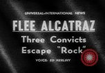 Image of convicts escape Alcatraz Island California USA, 1962, second 3 stock footage video 65675046759