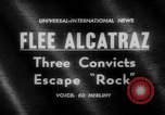 Image of convicts escape Alcatraz Island California USA, 1962, second 4 stock footage video 65675046759