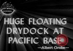 Image of US Navy Floating dry dock in Pacific Ocean Pacific Theater, 1945, second 1 stock footage video 65675046769