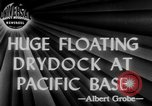 Image of US Navy Floating dry dock in Pacific Ocean Pacific Theater, 1945, second 2 stock footage video 65675046769